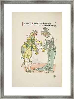 A Flower Wedding Framed Print