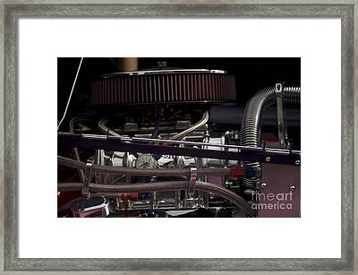 '31 Crown Victoria Engine Framed Print by Sean Stauffer