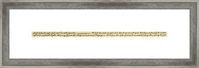 Declaration Of Independence Framed Print by Granger