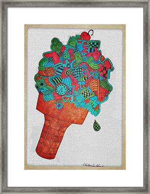 31 Flavors Framed Print by Chelsea Geldean