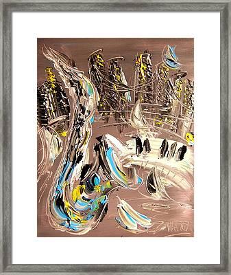 New York Framed Print by Mark Kazav