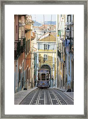 The Bica Funicular Framed Print by Andre Goncalves