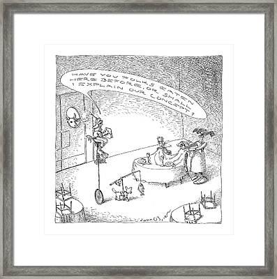 New Yorker October 18th, 2004 Framed Print by John O'Brien