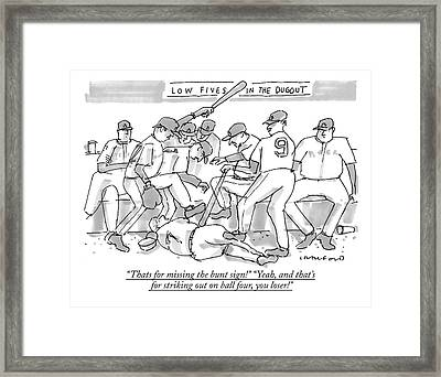 Thats For Missing The Bunt Sign! yeah Framed Print