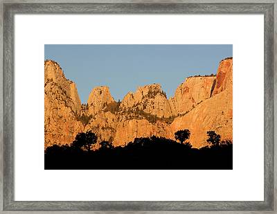 Usa, Utah, Zion National Park Framed Print