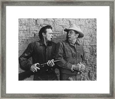 3:10 To Yuma  Framed Print by Silver Screen
