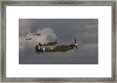 317 Polish Squadron Framed Print by Pat Speirs