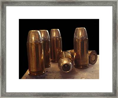 Bullet Art 32 Caliber Bullets 3514 Framed Print