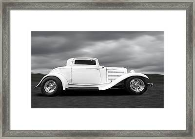 32 Ford Deuce Coupe In Black And White Framed Print