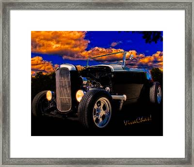 32 Ford Roadster In Silver An Black Framed Print