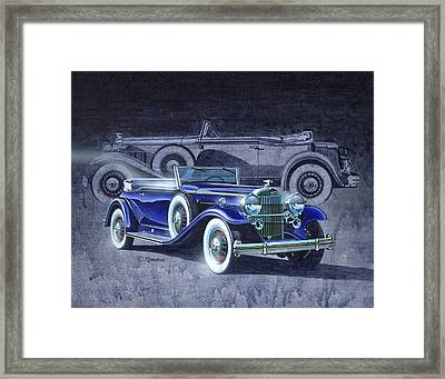32 Packard Framed Print by Richard De Wolfe