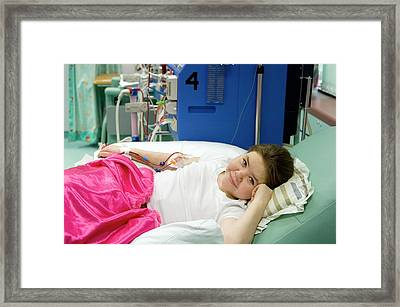 Paediatric Dialysis Unit Framed Print by Life In View/science Photo Library