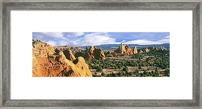 Rock Formations On A Landscape Framed Print