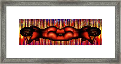 The Present Is Pregnant With Our Ugly Future Framed Print by Sir Josef - Social Critic -  Maha Art
