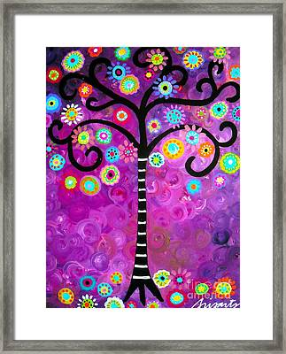 Framed Print featuring the painting Tree Of Life by Pristine Cartera Turkus
