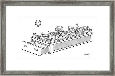 New Yorker September 1st, 2008 Framed Print by Robert Leighton