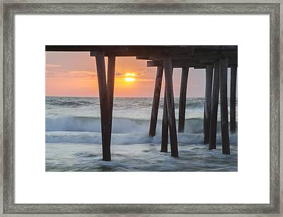 32nd Street Pier At Sunrise Avalon New Jersey Framed Print by Bill Cannon