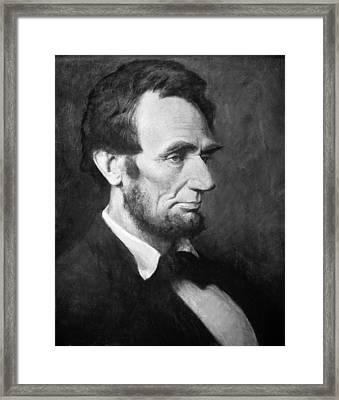 Abraham Lincoln (1809-1865) Framed Print by Granger