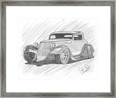 33 Hot Rod Framed Print by John Jones