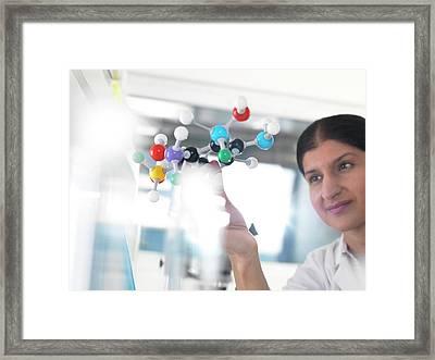 Molecular Model Framed Print by Tek Image