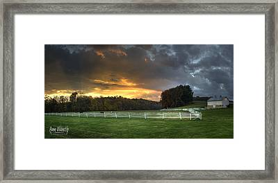 33 North Panorama Framed Print