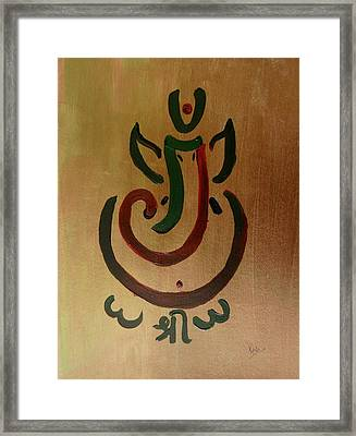 33 Rakta Ganesh Framed Print