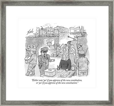 Either Vote 'yes' If You Approve Of The New Framed Print