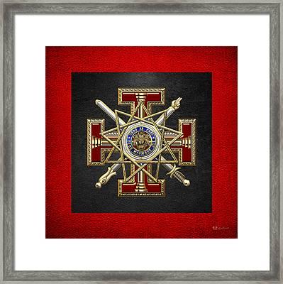 33rd Degree Mason - Inspector General Masonic Jewel  Framed Print