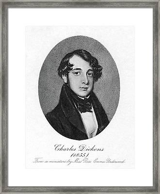 Charles Dickens (1812-1870) Framed Print