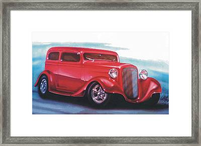 34 Framed Print by Christopher Fresquez