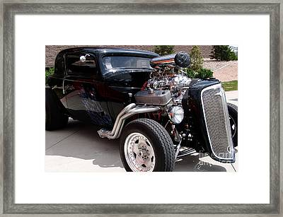 34 Custom Chevy Framed Print by Chris Thomas