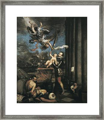 Ttitia, Tiziano Vecello, Also Called Framed Print