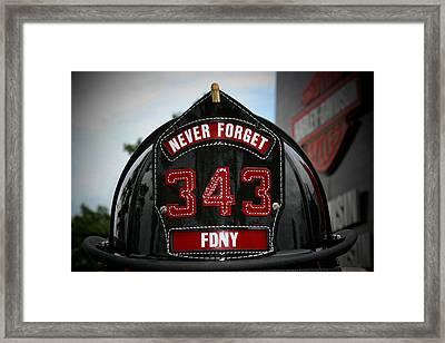 343 Framed Print