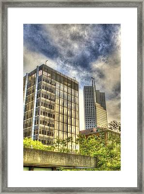 345 California Center Two Flags Framed Print