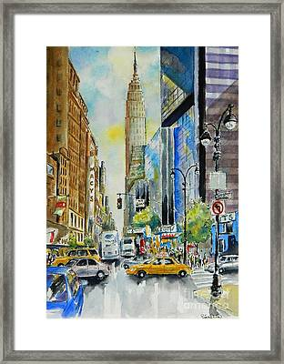 34th St. And 8th Ave Framed Print
