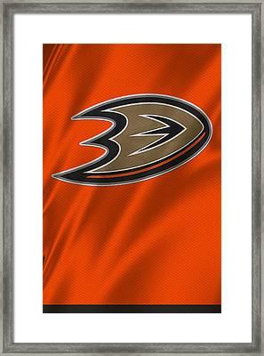 Anaheim Ducks Framed Print by Joe Hamilton