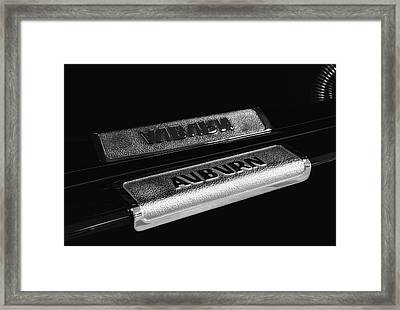 1935 Auburn Supercharged Step Plate Reflection Framed Print