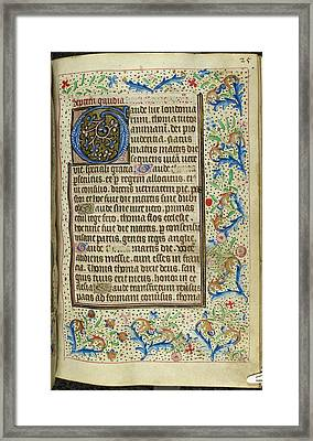 Book Of Hours Framed Print