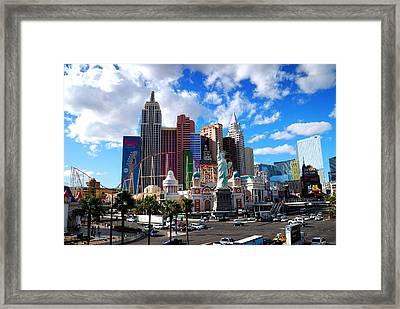 Las Vegas Nevada. Framed Print