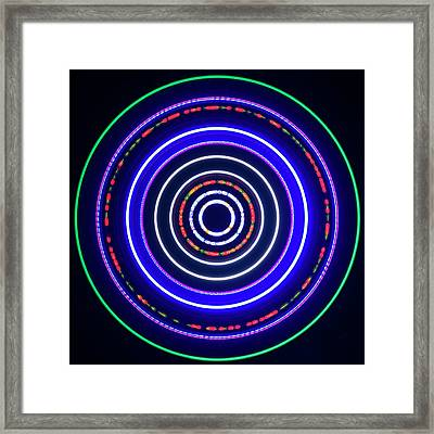 Multicoloured Light Trails Framed Print
