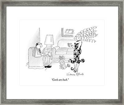 Curls Are Back Framed Print by Victoria Roberts