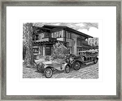 1913 Metz Runabout In Front Of 355 Junipero Long Beach C A Framed Print