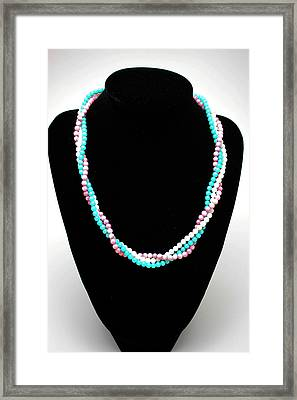 3584 Three Strand Twisted Shell Necklace Framed Print by Teresa Mucha