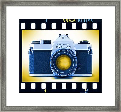 35mm Blues Pentax Spotmatic Framed Print by Mike McGlothlen