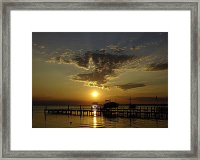 An Outer Banks Of North Carolina Sunset Framed Print