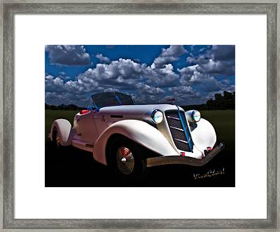 36 Auburn Speedster By Moonglow Framed Print by Chas Sinklier