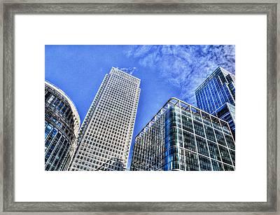 Canary Wharf London Framed Print