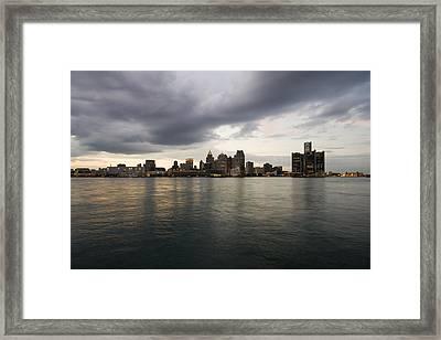 Detroit Skyline Framed Print by Gary Marx