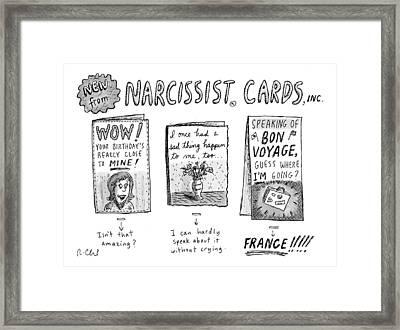 Narcissist Cards Framed Print