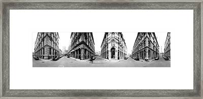 360 Degree View Of A City, Montreal Framed Print